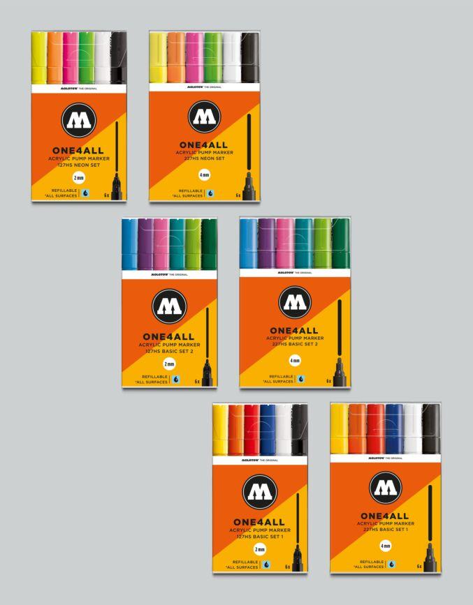 GLX Molotow Pro Artist Marker Set