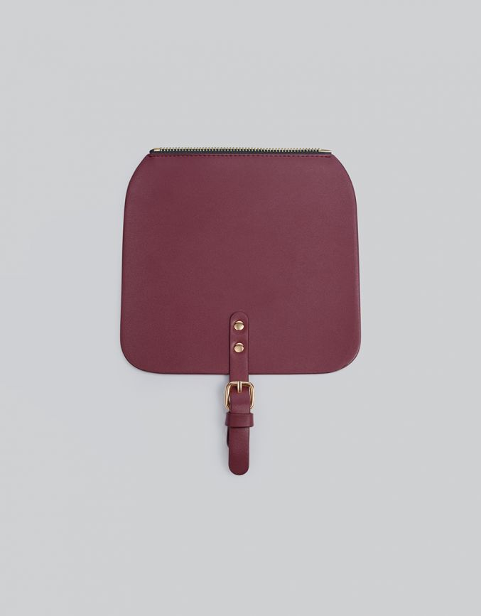 FLAP TOPBurgundy
