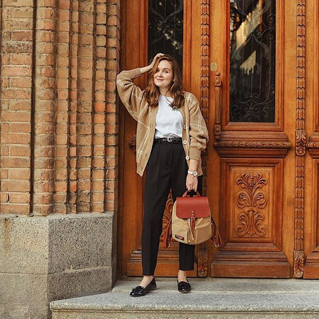 Our Pärlan backpack in Brown and Sand is the missing piece to your fall wardrobe